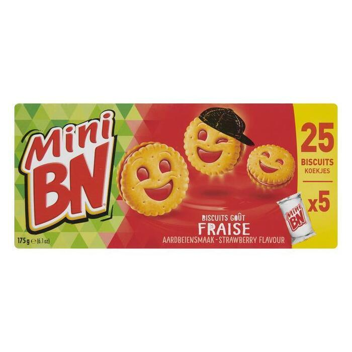 BN Mini biscuits aardbei (175g)