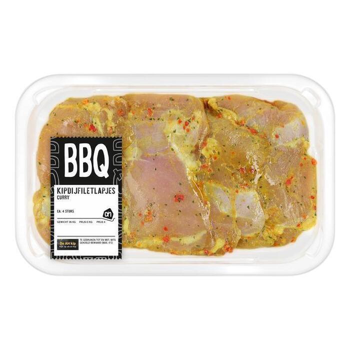 AH BBQ kipdijfiletlapjes curry (395g)