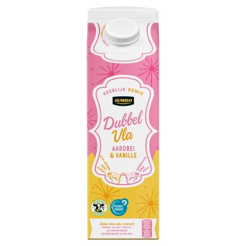 Jumbo Dubbelvla Vanille Aardbei 1 Liter (1L)