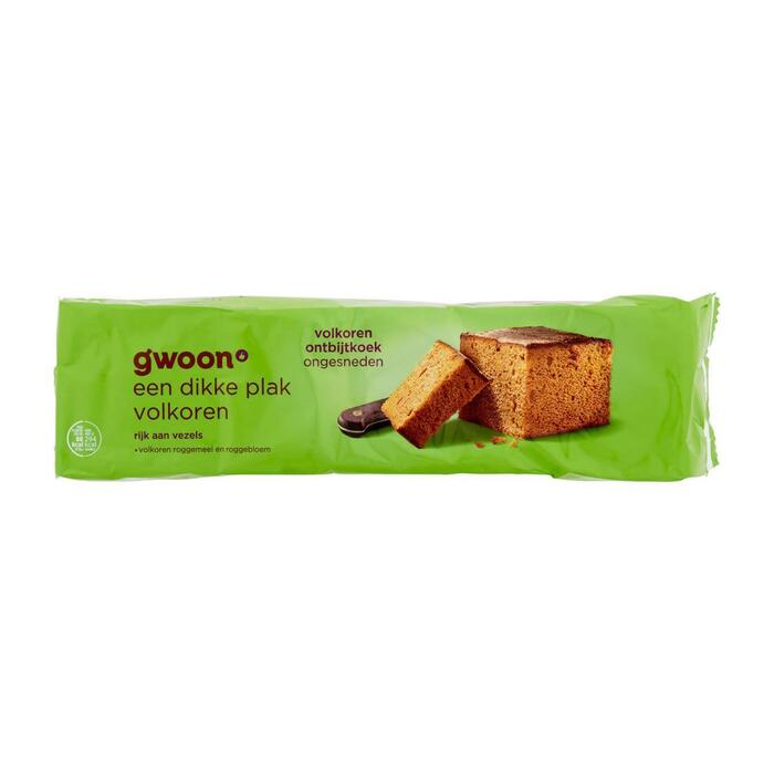 g'woon Ontbijtkoek Volkoren 550 g (550g)