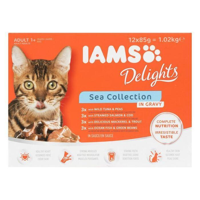 Iams Delights Sea Collection 12 x 85g (12 × 1.02kg)