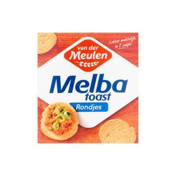 Van der Meulen Melba toast rondjes (110g)