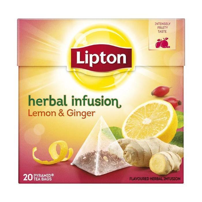 Lipton Kruiden Infusie Lemon Ginger 20 Stuks (20 × 40g)