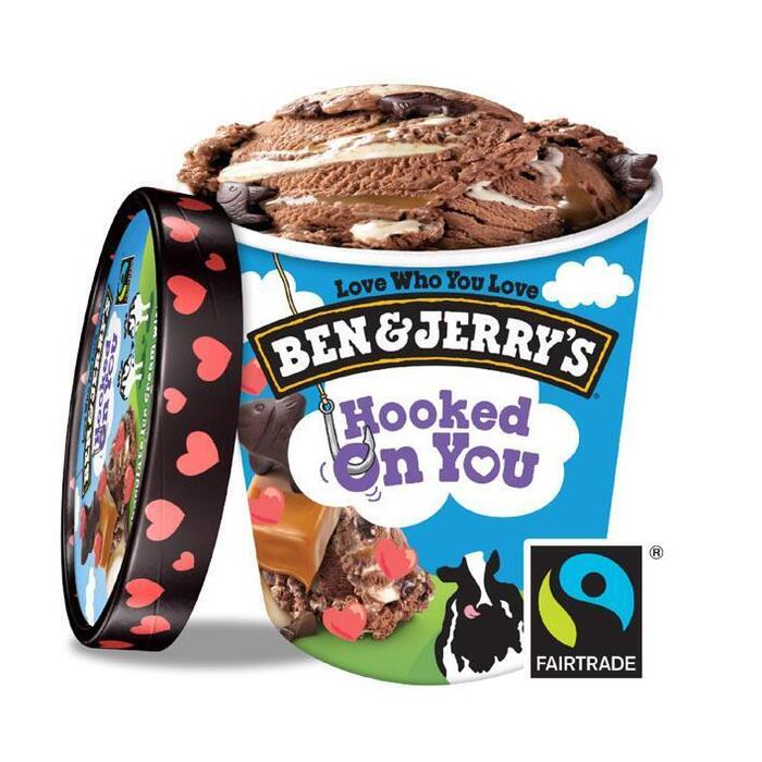 Ben & Jerry's Hooked on you (46.5cl)