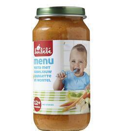 Bonbébé Pasta met kabeljauw, courgette en wortel 12+ maanden (250g)
