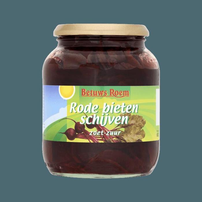 Rode bieten schijven zoet-zuur (Pot, 680g)
