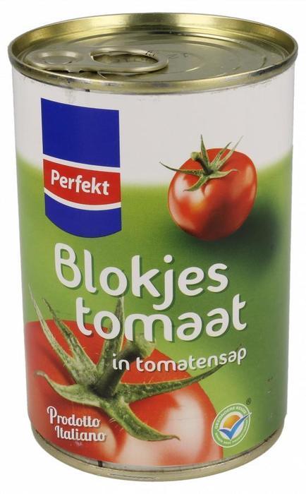 Blokjestomaat in tomatensap (blik, 400g)