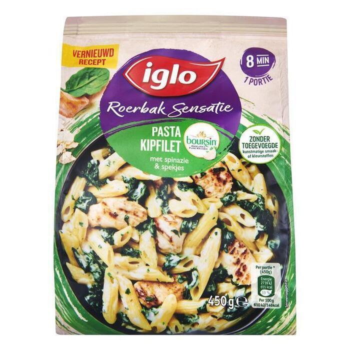 Roerbaksensatie pasta kipfilet spinazi (450g)