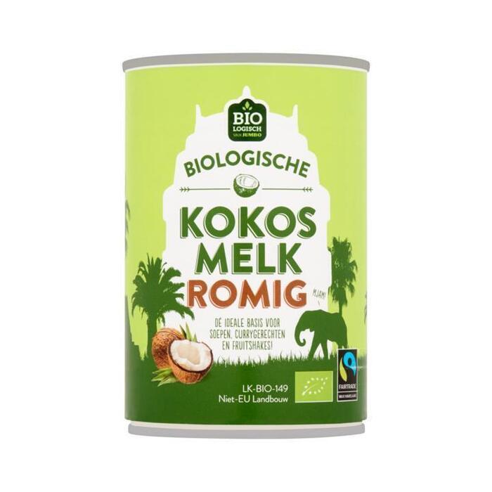 Jumbo Biologische Kokosmelk Romig 400 ml (40cl)
