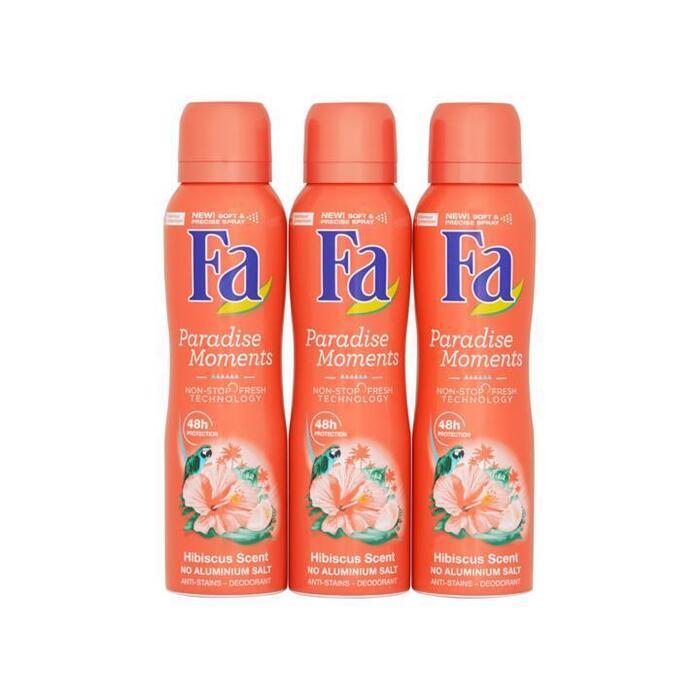 Fa Paradise Moments Hibiscus Scent Deodorant Mega Voordeel 3 x 150ml (3 × 150ml)