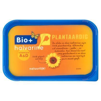 Bio+. Biologische Halvarine (kuipje, 500g)