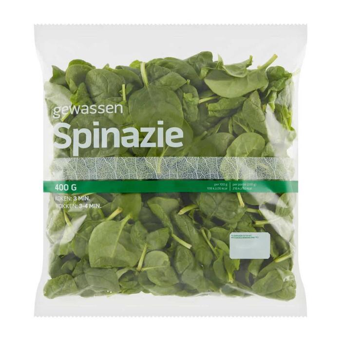 Spinazie gewassen 400 gram (400g)