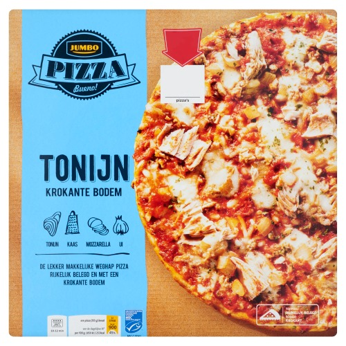 Jumbo Pizza Tonijn 355 g (355g)