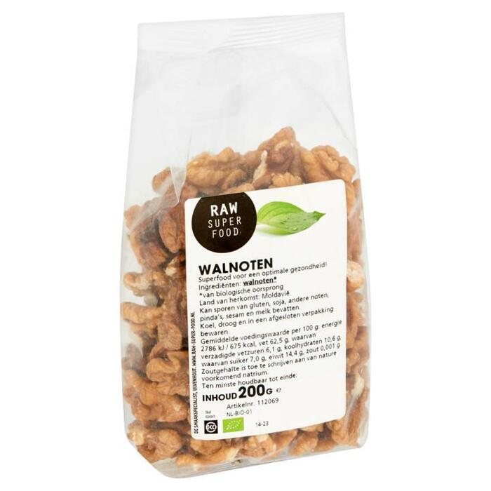Raw Superfood, Halve walnoten (zak, 200g)