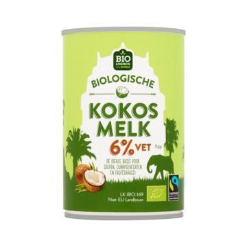 Jumbo Biologische Kokosmelk 6% Vet 400 ml (40cl)