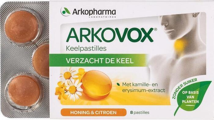 Keelpastilles honing-citroen (8 st.)