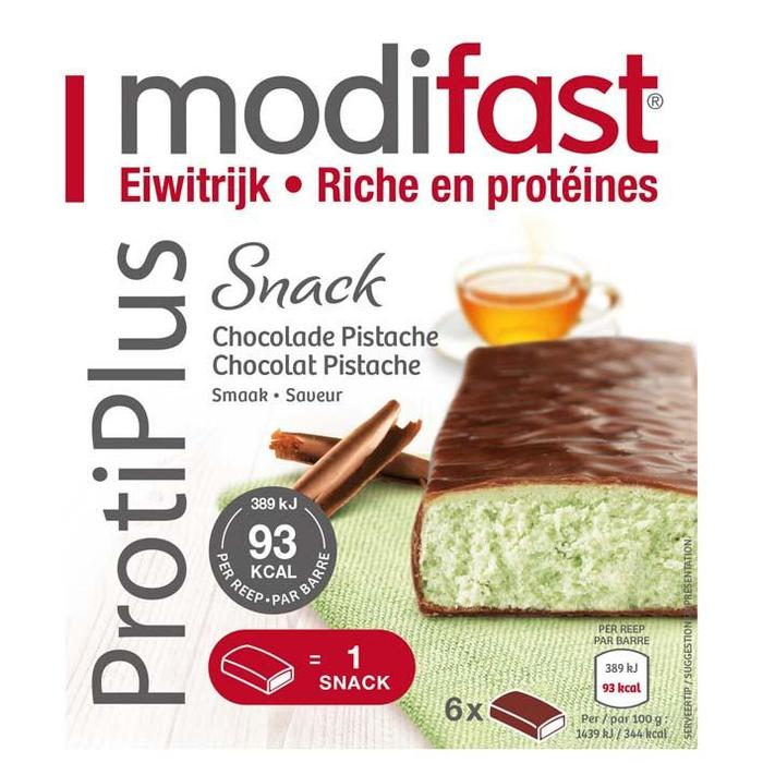 Modifast ProtiPlus Snack Chocolade Pistache Smaak 6 x 27g (6 × 162g)