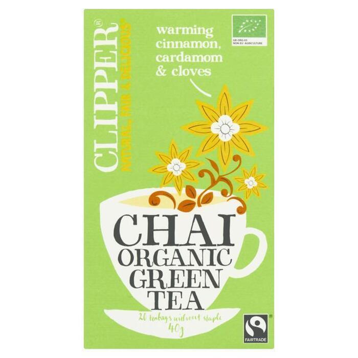 Chai organic green tea (doos, 20 stuks) (builtje, 40g)