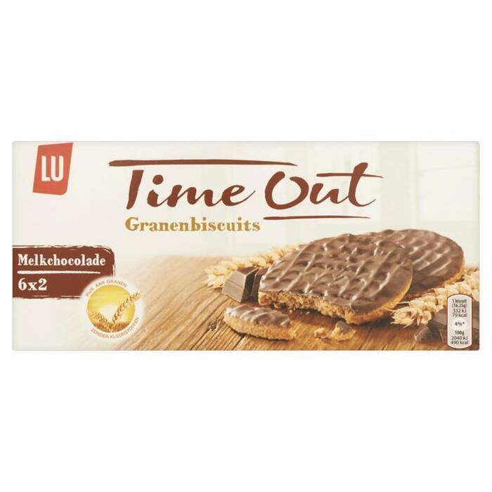 Time out granenbiscuits choco (Stuk, 195g)