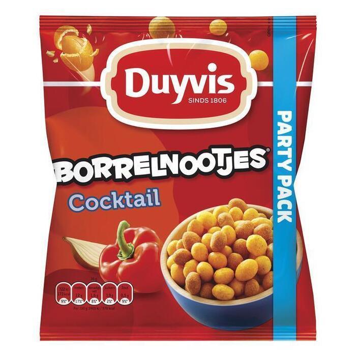 Duyvis Borrelnootjes Pinda's Cocktail 400g (Stuk, 400g)