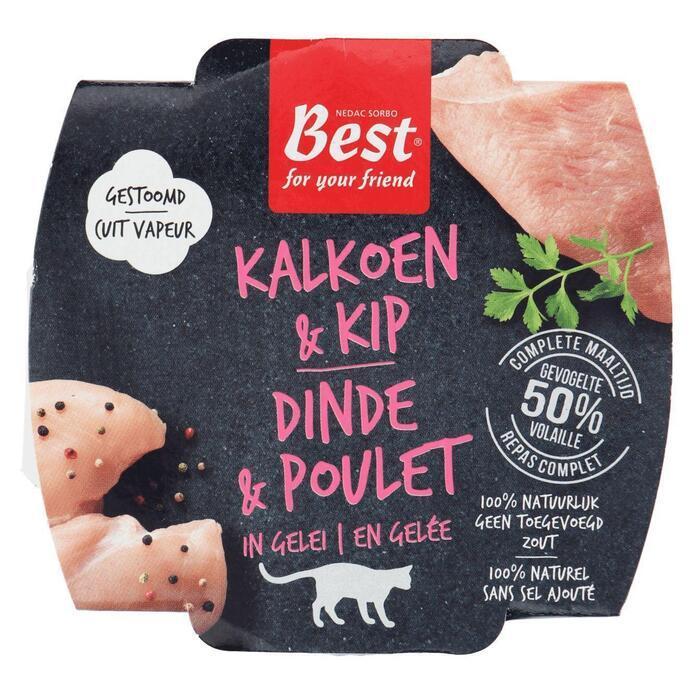 Kat kip-kalkoen brokjes (100g)
