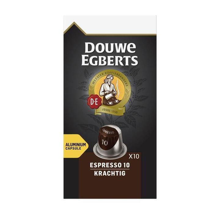 Capsules espresso 10 krachtig (Stuk, 10 × 52g)