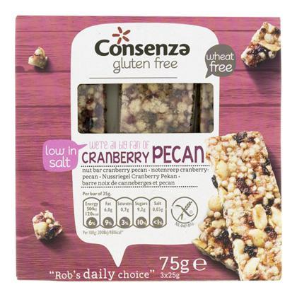 Notenreep cranberry-pecan (75g)