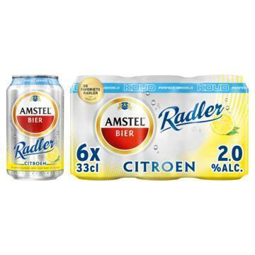 Amstel Radler lemon gekoeld blik 6 x 33 cl (6 × 33cl)
