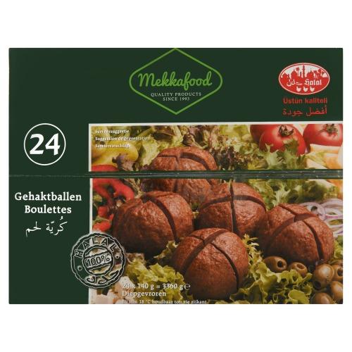 Mekkafood Gehaktballen 24 x 140 g (140 × 140g)
