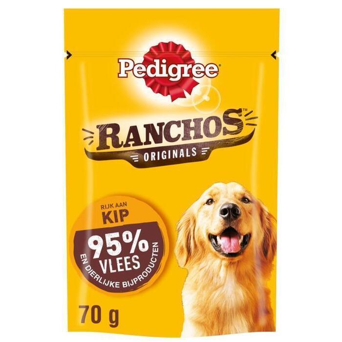 Pedigree Hondensnacks ranchos kip (70g)