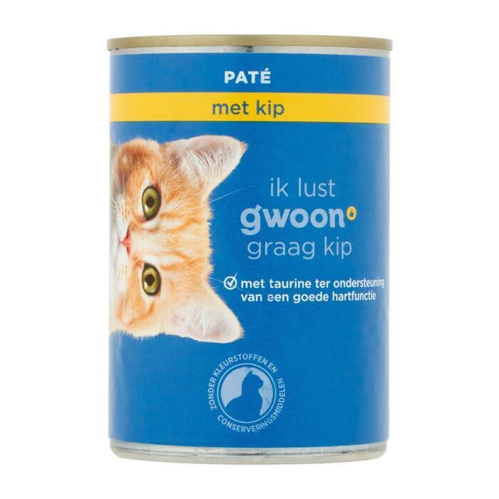 g'woon Pate adult met kip kat (400g)