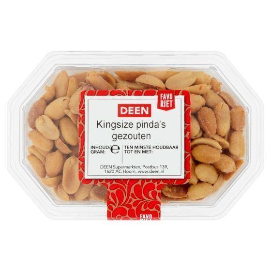 DEEN King Size Pinda's gezouten 250 gram (250g)