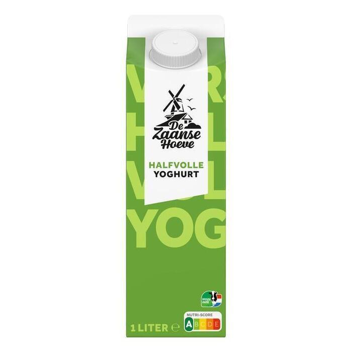 De Zaanse Hoeve Halfvolle yoghurt naturel (1L)