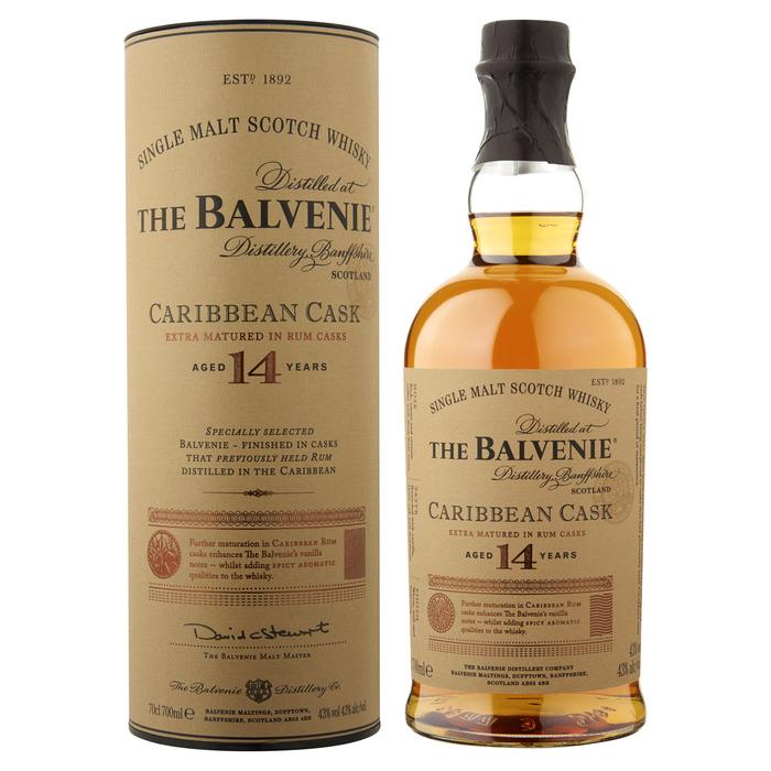 BALVENIE 14YO CARIBBEAN CASK 43% 6X0.7L (0.7L)