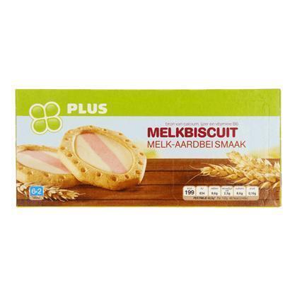 Melkbiscuit melk/aardbei (6 × 40.5g)
