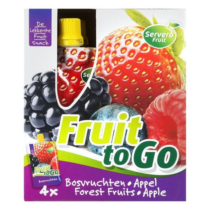 Fruit to go fruitsnack bosvr/appel (4 × 400g)