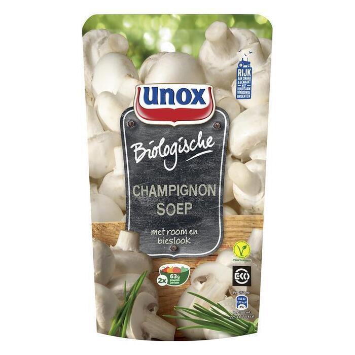 Unox Champignon soep met room en bieslook bio (0.57L)