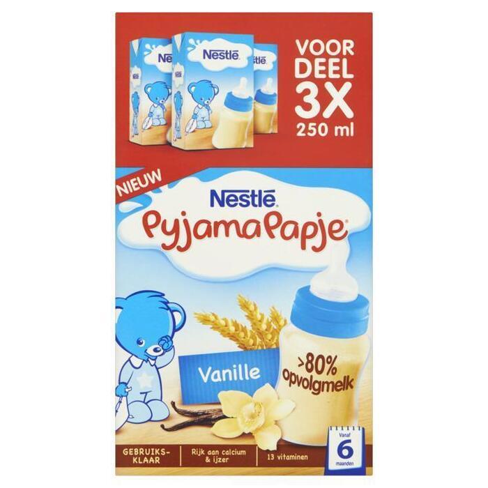 PyjamaPapje® Vanille 3 x 250 ml (Stuk, 3 × 250ml)