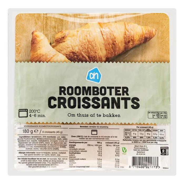Roomboter croissants (afbak)