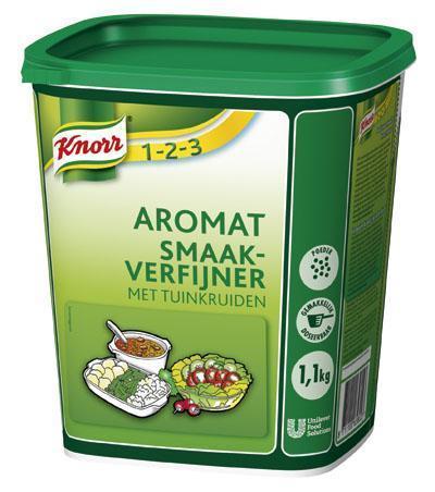 Knorr 1-2-3 Aromat Tuinkruiden (6 × 1.1kg)