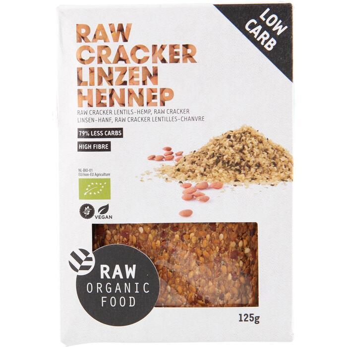 Raw Organic Food Crackers linzen hennep (125g)