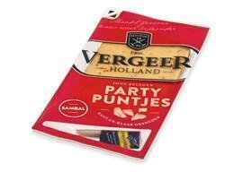 Vergeer Holland Kaas 40+ Partypuntjes Sambal jong belegen 175g (plastic, 175g)