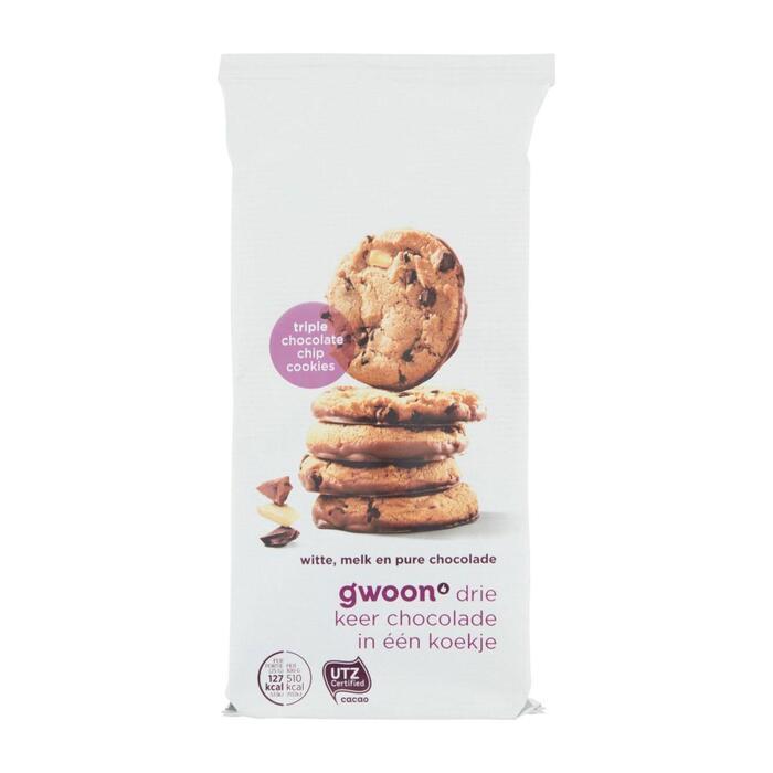 g'woon triple chocolate chip cookies (200g)