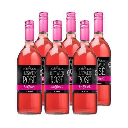 Huiswijn rose halfzoet (rol, 6L)