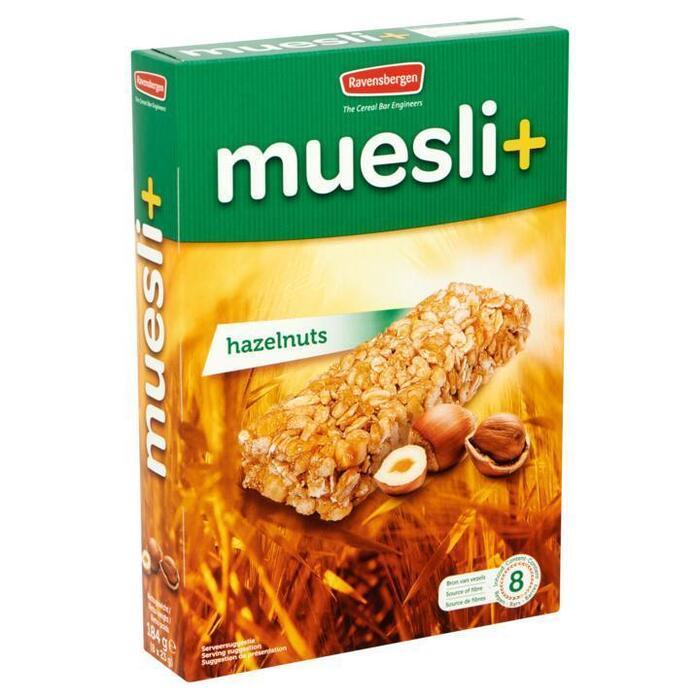 Muesli+ Hazelnuts (doos, 8 × 23g)