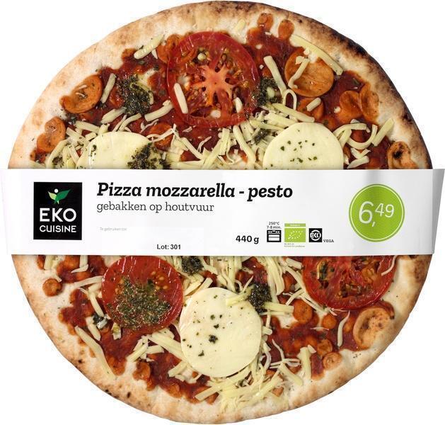 Pizza mozzarella-pesto (440g)