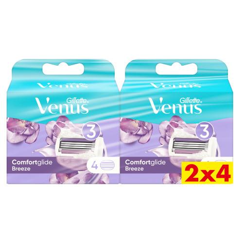 Venus Comfortglide Breeze Navulmesjes 2x4 verpakking