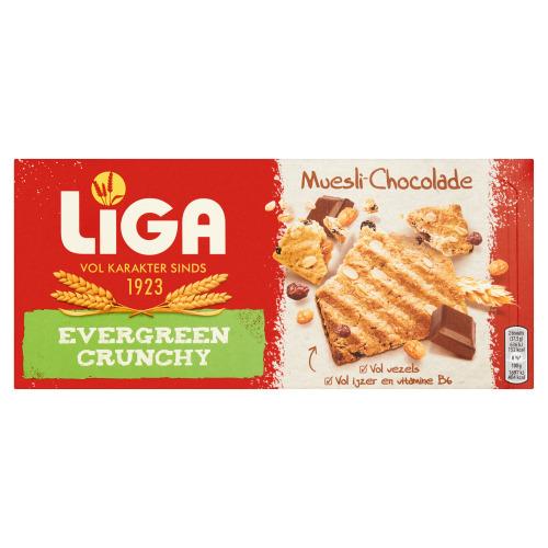 Evergreen Crunchy Muesli - Chocolade (Stuk, 225g)
