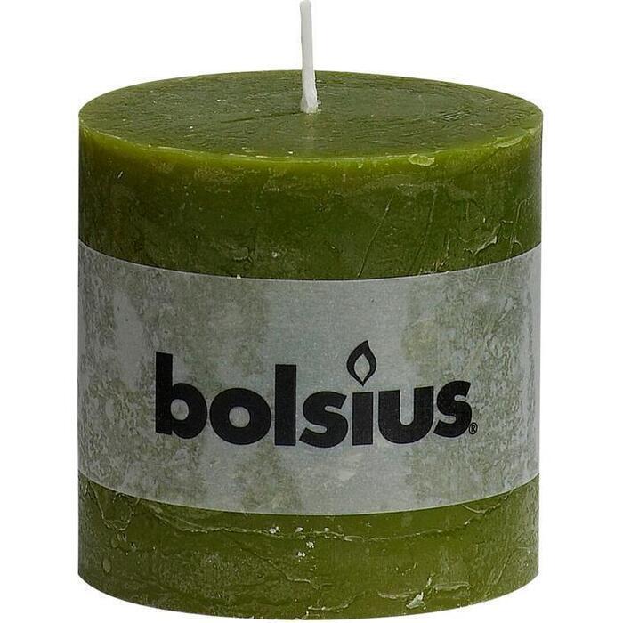 Bolsius Kaars rustiek olijf 10 cm