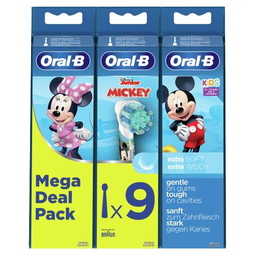 Oral-B Kids Mickey Opzetborstels Voor Elektrische Tandenborstel , 9 Opzetborstels